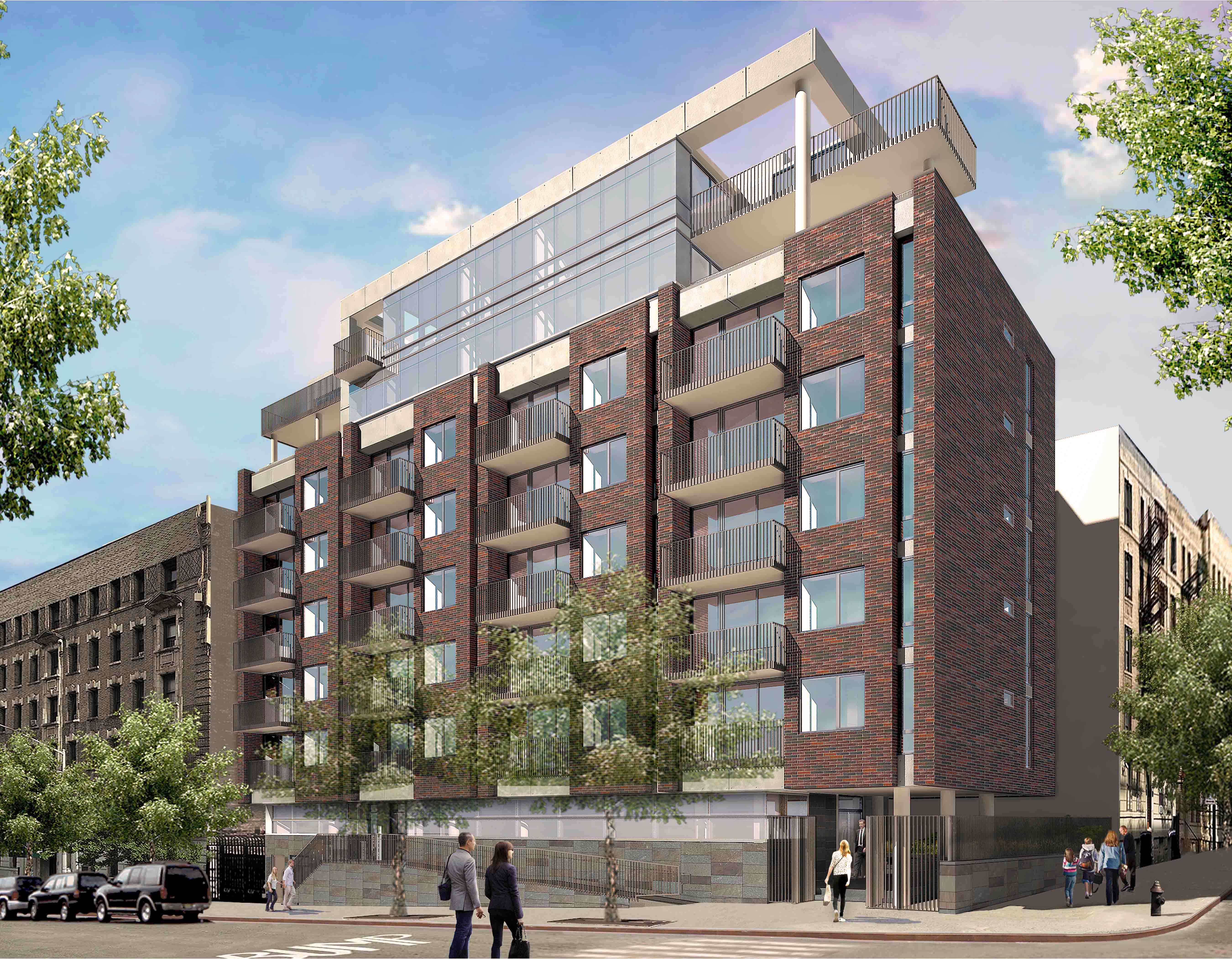 Multi family mixed use building hudson heights nyc for Multi family architecture